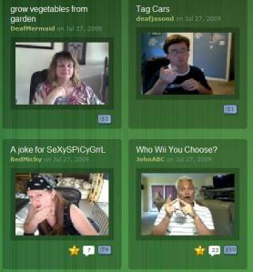 Deafvideo TV image on Internet website